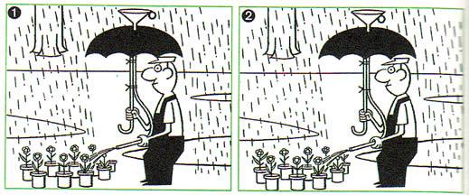 园丁浇花卡通图片