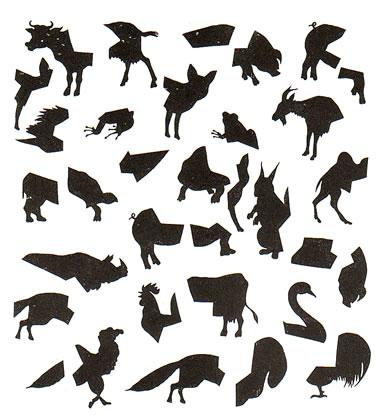 拼图找动物
